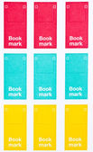 Collection of colorful imperforate bookmarks pad. — Stock Photo