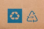 Ecycling code on cardboard. — Stock Photo