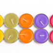 Colorful spa candles — Stock Photo