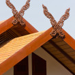 Northern Thai style roof decoration. — Stock Photo
