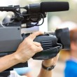 Close up of cameraman. — Stock Photo
