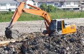 Tractor shovel working in progress. — Stock Photo