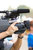 Close up of cameraman. — Stock Photo