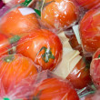 Fresh tomatoes packed — Stock Photo