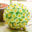 Decorated ball handicraft — Stock Photo