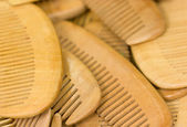 Many wooden combs. — Stock Photo