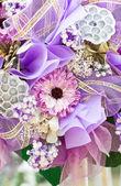 Cerca de ramo de flores artificiales. — Foto de Stock