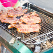 Grilled pork on the grill. — Stock Photo