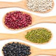 Job's tears, Kidney, Mung and Black beans — Stock Photo #32527963