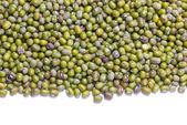 Green mung beans border. — Stock Photo