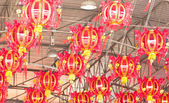 Traditional red Chinese lantern. — Stock Photo