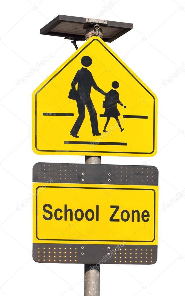 Citaten School Zone : Señal de zona escolar — fotos stock happymay