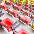 Dusty stadium seat. — Stock Photo