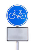 Bicycle sign plate — Stock Photo
