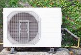 White metal air compressor. — Stock Photo