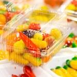 Deletable imitation fruits — Stock Photo