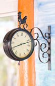 Hanging clock on the wall. — Stock Photo