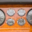 Dashboard detail of vintage car. — Stock Photo