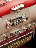 Old car radio in a classisc car. — Stock Photo
