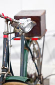 Old bicycles lamp close up. — Stock Photo