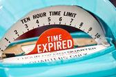 Indicatore del tempo scaduto su un parchimetro. — Foto Stock