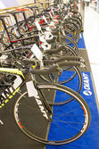 Giant bicycles on display — Stock Photo