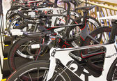 Quintana Roo bicycles on display — Stok fotoğraf