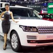 Nwe Range Rover car with unidentified model — Stock Photo