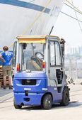 Forklift truck park at Klong Toey port — Stock Photo