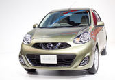 Nissan March on display — Stock Photo