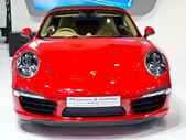 Porsche 911 Carrera S Cabriolet car on display — Stock Photo