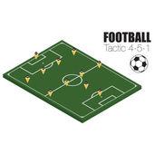 Formování strategie Fotbal — 图库矢量图片