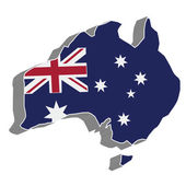 Flag map of Australia. — Vetorial Stock
