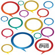 Colorful speech bubbles. — Stock Vector