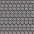 Black and white Asian style spiral pattern.  — Vettoriali Stock