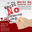 May 31st World no tobacco day illustration. — Stock Vector