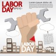 May 1st Labor day illustration conceptual. — Stock Vector