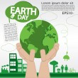 April 22nd Earth day — 图库矢量图片