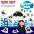 Money crisis conceptual illustration. — Stock Vector #32686527