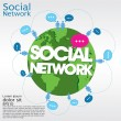 Social networking conceptual illustration. — Stock Vector