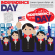 Independence Day celebration concept. — Stock Vector