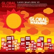 Global warming illustration concept. — 图库矢量图片