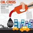 Oil crisis illustration concept. — Stock Vector
