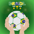 Brazil beginning of football — Stockvectorbeeld