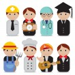 Set of people occupations icons. — Stockvectorbeeld