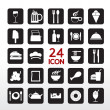 Food And Beverage Icon Set  — Vektorgrafik