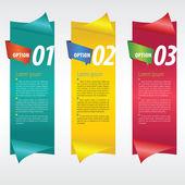 Banner vertical con número. — Vector de stock