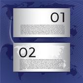 World map banner. — Stock Vector