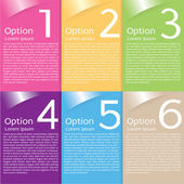 Colorful banner template. — Stock Vector