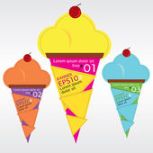 Colorful ice cream. — Vector de stock
